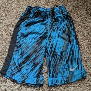 Nike Boys Dri-Fit Blue & Grey Shorts SZ XS